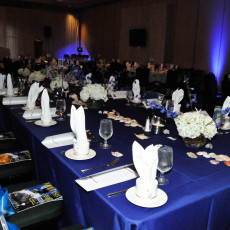 Billfish Foundation Award Dinner setting