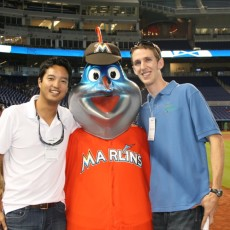 TBF&#039;s Peter Chaibongsai and Dr. Sean Bignami hanging out with Billy the Marlin before the event.